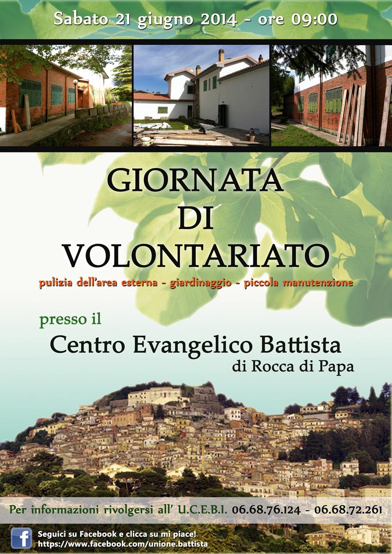 Volantino Volontariato a Rocca di Papa