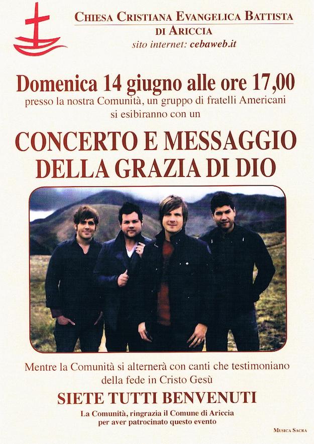Locandina concerto 14 Giugno 2015